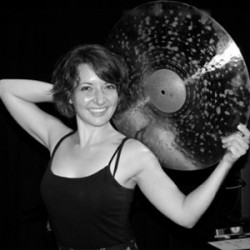 Kim Trujillo teaches drums at Air House in Wichita, KS.