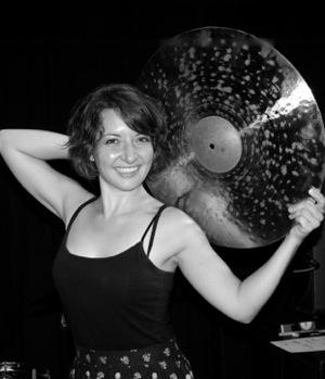 Kim Trujillo teaches drums at Air House in Wichita, KS.